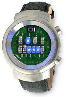 Бинарные светодиодные наручные часы