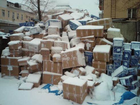 Небрежное хранение посылок
