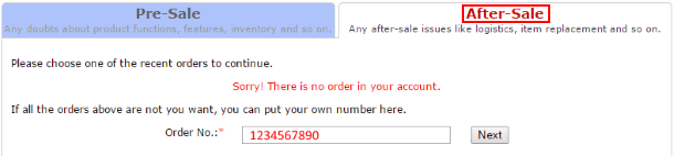 """Вкладка """"Послепродажные вопросы"""" на Tinydeal"""