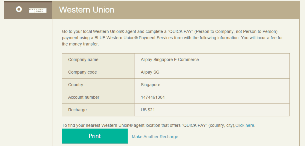 Реквизиты для перевода Western Union