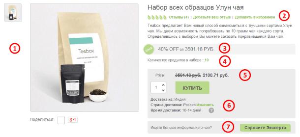 Карточка товара на Teabox.com