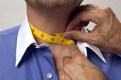 Как правильно измерить обхват шеи