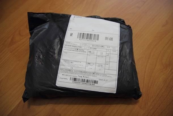 Упаковка аккумулятора Xiaomi, купленного на BangGood.