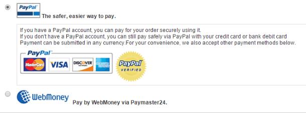 Как покупать на EverBuying.net - доступные способы заплатить за заказ