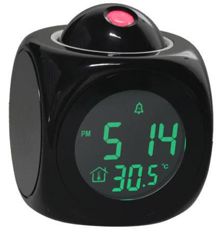 Комнатные часы с отображением времени на стенах или потолке
