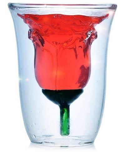Бокалы с GearBest, придающие напитку форму розы
