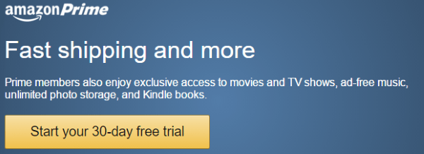 Условия бесплатного 30-дневного ознакомительного периода Amazon Prime