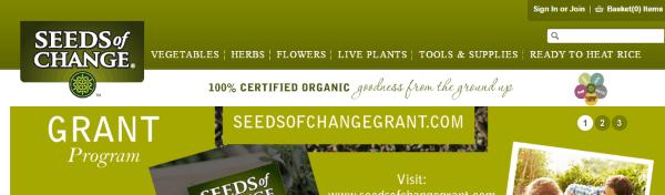 Где купить экологические семена в зарубежных интернет-магазинах - Seed of Change