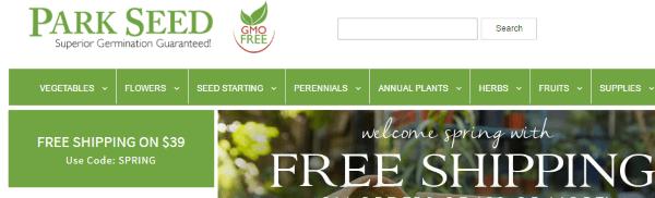 Где купить экологические семена в зарубежных интернет-магазинах - Park Seed