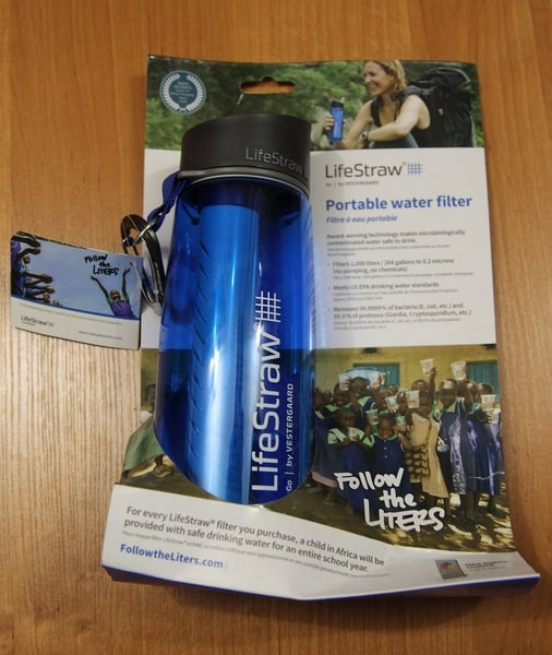Картонная упаковка бутылки LifeStraw
