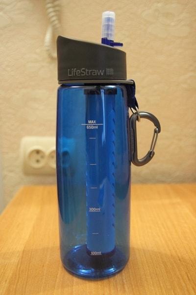 Бутылка с антибактериальным фильтром для воды LifeStraw - общий вид