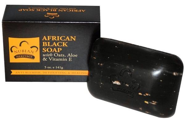 Чёрное мыло, купленное на iHerb