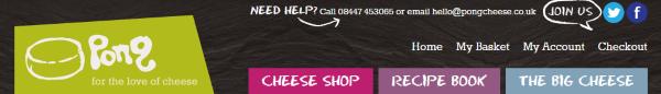 Сырный интернет-магазин из Великобритании Pongcheese.co.uk