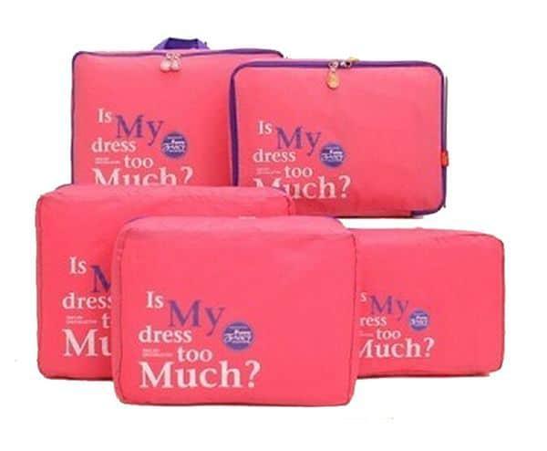 Нейлоновые сумки для организации вещей в чемодане