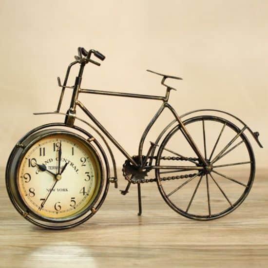 Винтажные часы в форме велосипеда