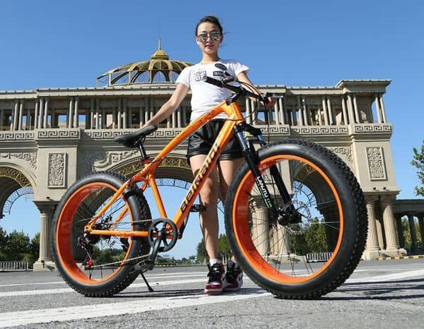 Велосипед на толстой резине, заказанный с Aliexpress