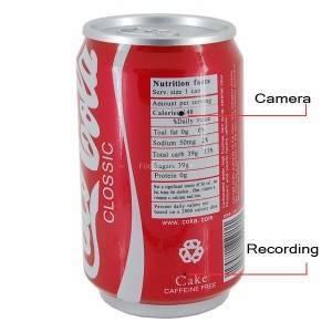 Скрытая видеокамера в банке Coca-Cola купить