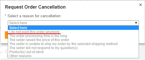 Причина отмены заказа на Aliexpress