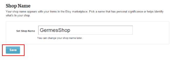 Выбор названия магазина на Etsy