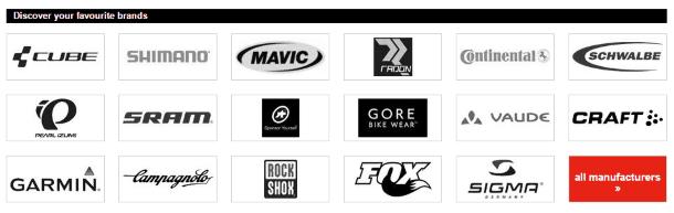 Каталог производителей на Bike-discount.de