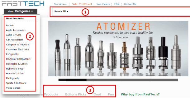 Как покупать на FastTech.com - поиск товара