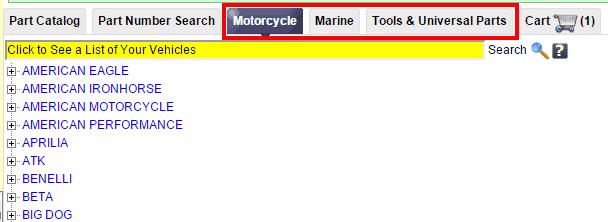 Поиск по деталям для мотоциклов, лодок и грузовиков на RockAuto.com