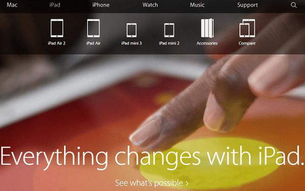 Apple сделал из свое официального сайта интернет-магазин