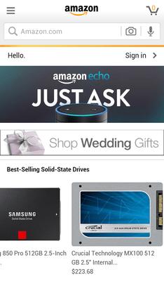 Мобильное приложение Amazon