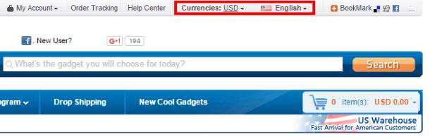 Переключение языка интерфейса BuySKU и валюты отображения цен