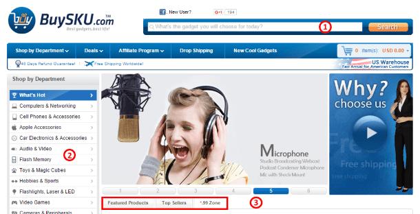 Как покупать на BuySKU.com - инструменты навигации