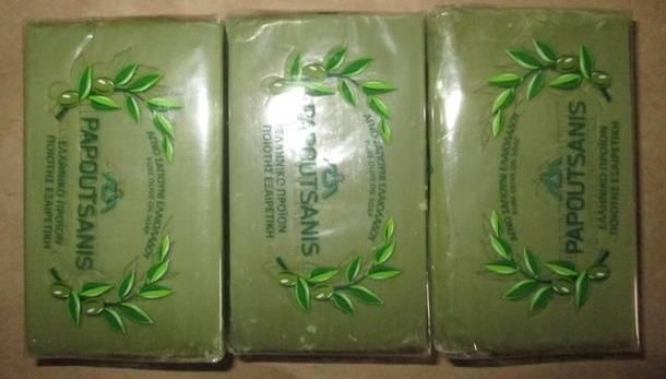 Натуральное оливковое мыло из Греции, заказанное на eBay
