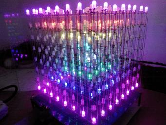 Большой куб из светодиодов для самостоятельной сборки с Aliexpress