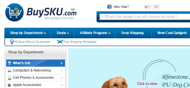 Дропшиппинг вместе с BuySKU.com