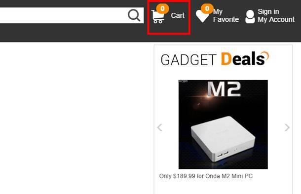 """""""Корзина"""" на GearBest.com"""