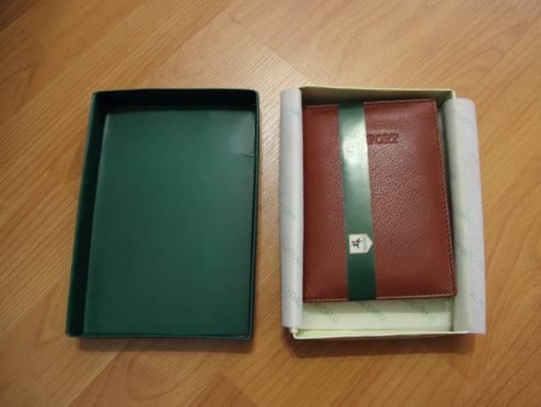 Обложка для паспорта из качественной кожи с британского Amazon.co.uk - в картонной коробке