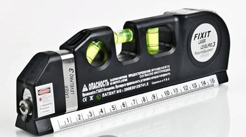 Рулетка и лазерный уровень в одном