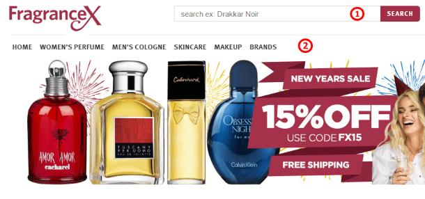 Как покупать на FragranceX.com - способы навигации