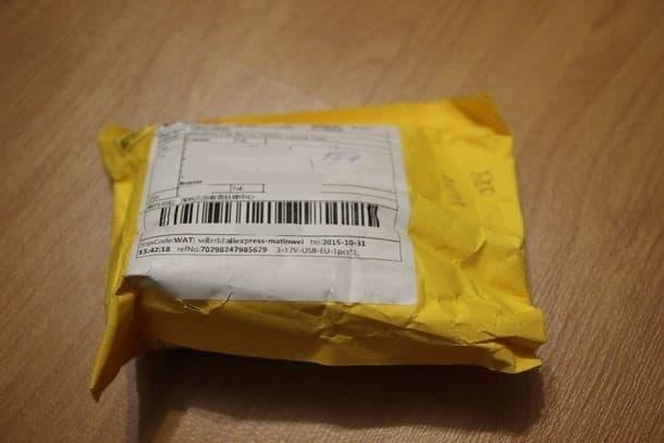 Внешняя упаковка посылки с Aliexpress