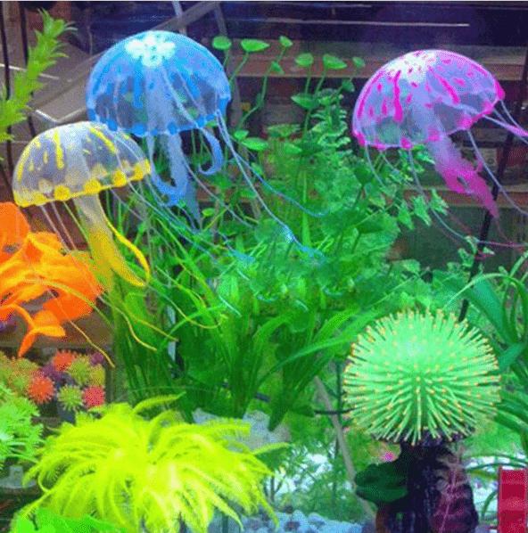 Светящиеся украшения для аквариума с Aliexpress