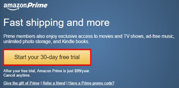 Продолжение регистрации в программе Amazon Prime