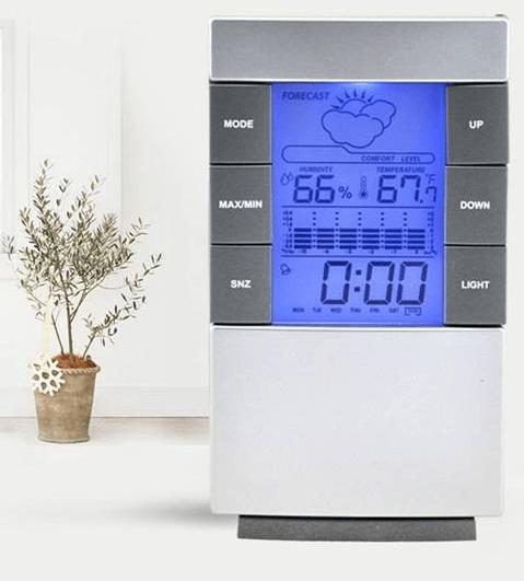 Комнатный электронный термометр и измеритель влажности