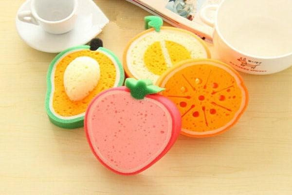 Посудомоечные губки в форме фруктов