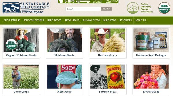 Где купить экологические семена в зарубежных интернет-магазинах - Sustainable Seed Company