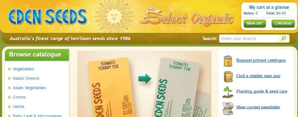 Интернет-магазин эко-семян Eden Seeds