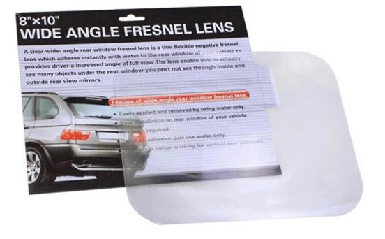 Линза для расширения угла обзора в автомобиле