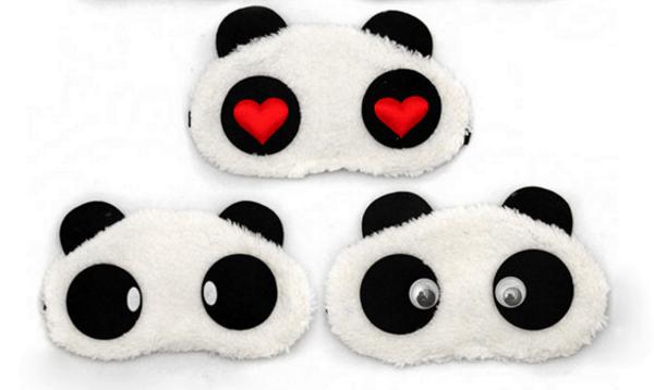 Ночная маска в виде глаз и ушей панды