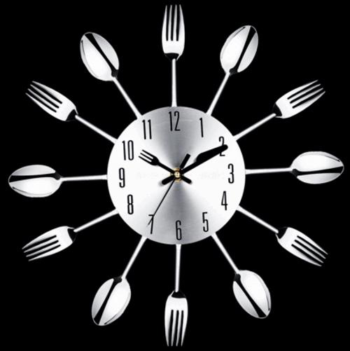 Настенные часы из ножей и вилок с Aliexpress