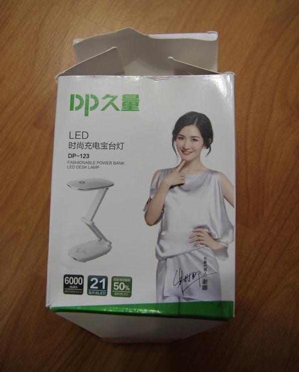 Упаковка настольной лампы с BangGood.com оказалась сильно помятой