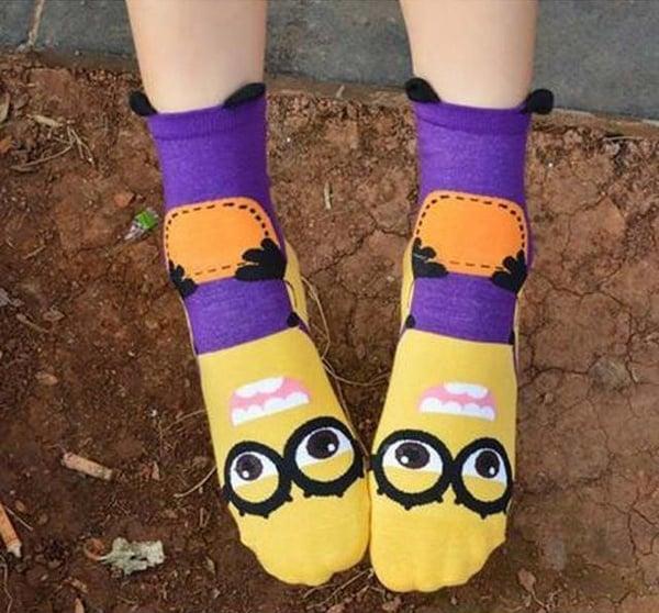 Забавные носки с рисунком миньонов с eBay
