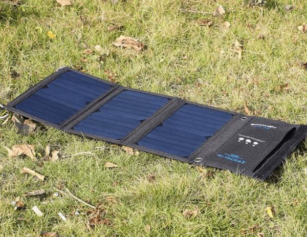 Солнечная панель BlitzWolf, купленная на Aliexpress